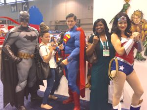 Super Heros at Sweets and Snacks Expo