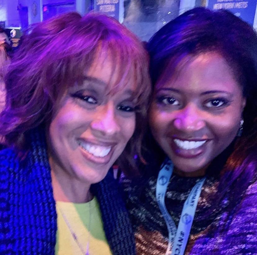 Gayle King and Tavi J.