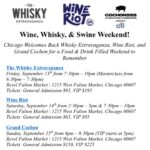 Event Alert! Wine, Whisky, & Swine Weekend: 9/13 – 9/15