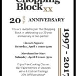 Event Alert! – The Chopping Block Turns 20 – April 1st and April 8th