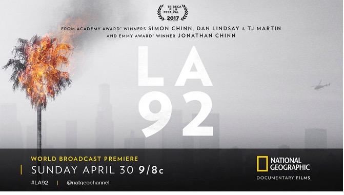 "Chicago Screening of National Geographic Documentary Film ""LA92"""