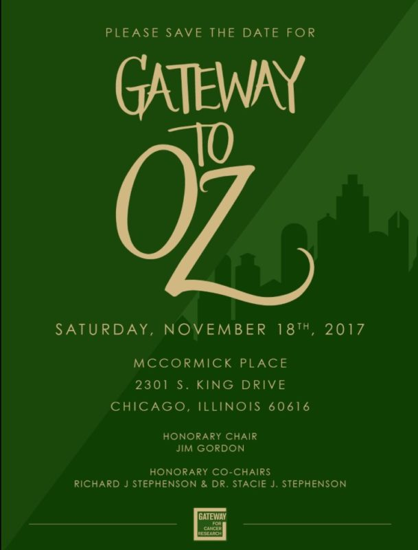 Event Alert! 26th Annual Gateway to Cancer Research Cures Gala – November 18th