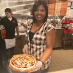 Tavi J. goes behind the pizza line at Blaze Pizza!
